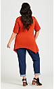 Plus Size Knotted Cage Tunic - cinnamon