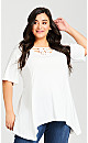 Knotted Cage Tunic - ivory