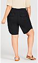 Plus Size Cotton Casual Short - black
