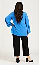 Plus Size Super Stretch Zip Pant Black - petite