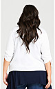 Plus Size Short Ruched Cardi - white