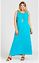 Plus Size Holly Crochet Maxi Dress - turquoise