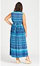 Plus Size Lani Twist Front Maxi Dress - blue