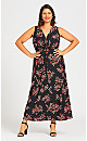 Plus Size Lani Twist Front Maxi Dress - black