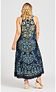 Plus Size Miley Beaded Maxi Dress - navy