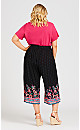 Plus Size Jacobean Pant - black