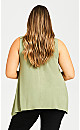 Plus Size Aria Pleat Front Top - olive
