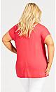 Faith Nailhead Top - scarlet
