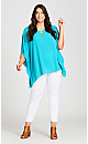 Plus Size Harper Ring Top - turquoise