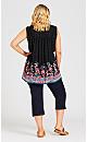 Plus Size Lily Border Top - black