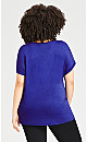 Plus Size Maddie Sequin Top - cobalt