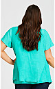 Plus Size Mila Split Front Top - emerald