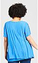 Plus Size Mila Split Front Top - blue
