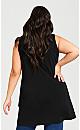 Plus Size Frill Hem Tunic - black