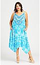 Mia Trapeze Dress - blue
