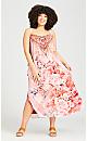 Emily Beaded Dress - peach