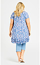 Plus Size Avery Crush Tunic - blue