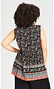 Plus Size Amy Crochet Trim Top - black