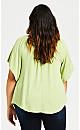 Plus Size Rebecca Off Shoulder Top - mint