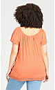Plus Size Ana Crinkle Top - coral