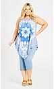 Plus Size Nicole Scarf Tunic - blue