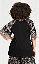 Plus Size Gracie Tie Front Top - black