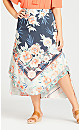 Plus Size Ellie Placement Skirt - grey