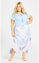Plus Size Ellie Placement Skirt - sky