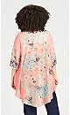 Plus Size Stella Kimono - peach
