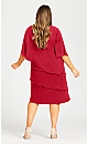 Plus Size Lyla Overlay Dress - raspberry