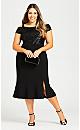 Plus Size Maci Sequin Dress - black