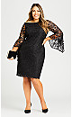 Plus Size Paris Lace Dress - black
