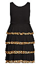 Plus Size Mariana Tiered Dress - black