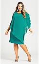Plus Size Alani Beaded Dress - teal