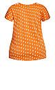 Plus Size Print Crochet Top - tangerine
