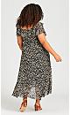 Romance Print Dress - foil print