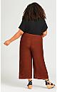 Plus Size Pull On Drape Pant - terracotta