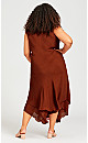 Bias Lace Dress - terracotta