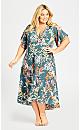 Plus Size Viv Wrap Maxi Dress - sage