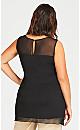 Plus Size Alexia Overlay Tunic - black