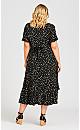 Plus Size Tie Hi-Low Dress - black
