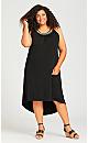Plus Size Beaded Dress - black