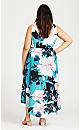 Plus Size Adriatic Dress - aqua