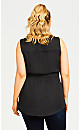 Plus Size Embroidered Insert Top - black