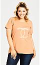 Plus Size Boxed Slogan Top - blush