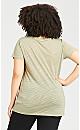 Plus Size Textured Burnout Top - sage