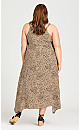 Plus Size Trapeze Toffee Dress - toffee
