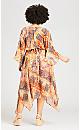 Plus Size Hanky Hem Event Dress - sunkissed