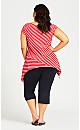 Plus Size Knit Crop Cross Hem Pant - navy