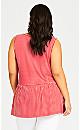 Plus Size Side Swing Stripe Tunic - red